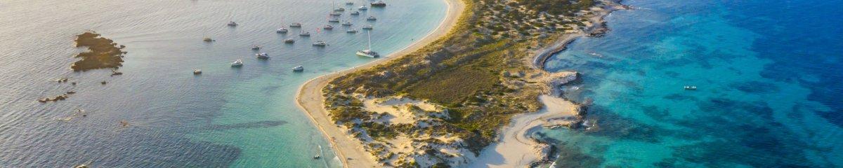 Naaktstrand Ses Illetes, Formentera, Spanje